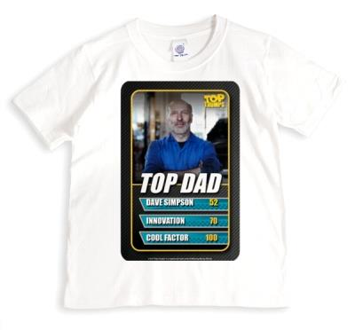Top Trumps Top Dad Photo Upload Tshirt