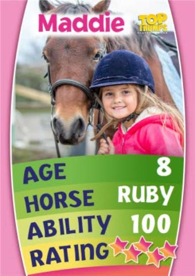 Top Trumps Horse Riding Photo Upload Card