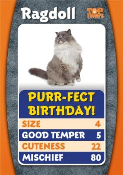 Top Trumps Ragdoll Purfect Birthday Card