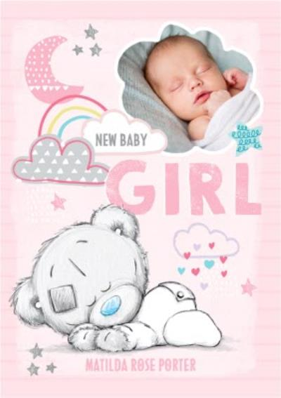 Me To You Tatty Teddy Baby Girl Photo Upload Card