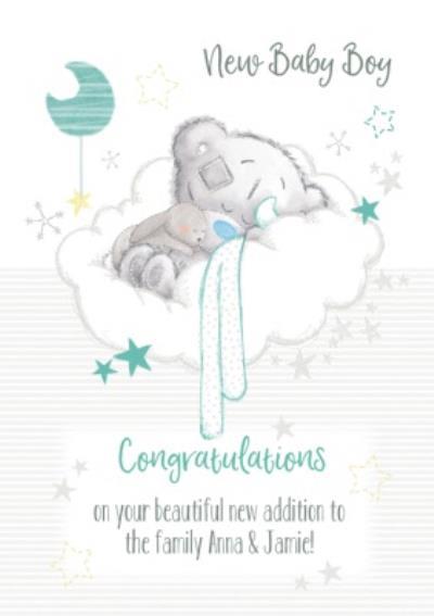 Tatty Teddy Congratulations New Baby Boy Card