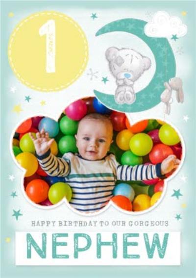 Me To You Tiny Tatty Teddy Nephew 1st Birthday Photo Upload Card
