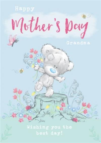 Me To You Tiny Tatty Teddy Floral Mother's Day Card For Grandma