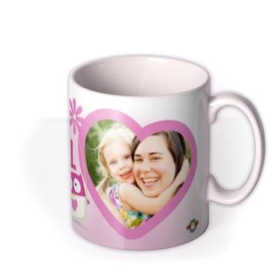 Mother's Day Wonderful Mum Heart Photo Upload Mug