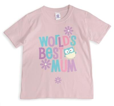 Mother's Day World's Best Mum Pastel Personalised T-shirt