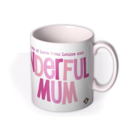 Mother's Day Wonderful Mum Photo Upload Mug