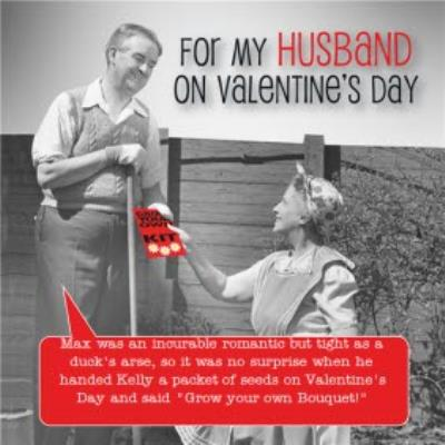 For My Husband Personalised Valentines Day Card