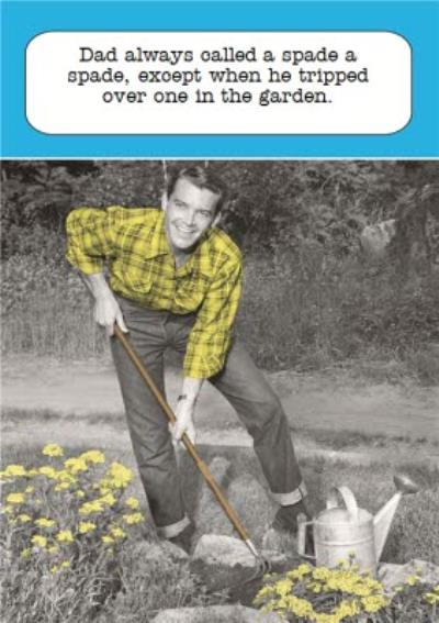 Dad Tripping In The Garden Personalised Father's Day Card