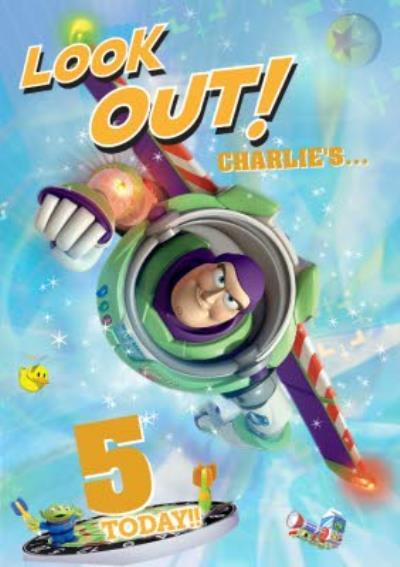 Toy Story 5th Birthday Card