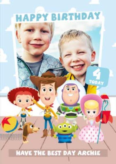 Toy Story 4 - Birthday Card - Photo upload