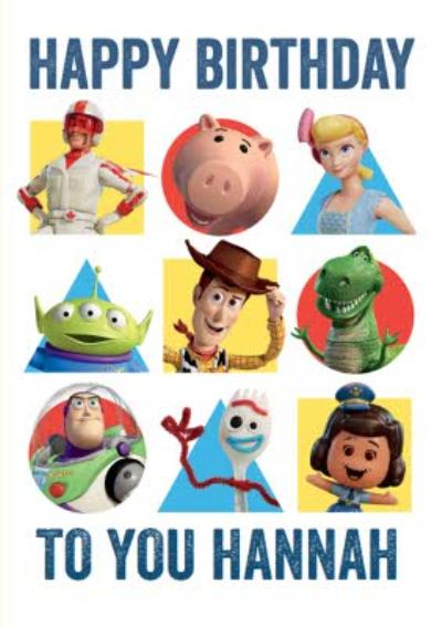 Toy Story 4 Characters Birthday Card