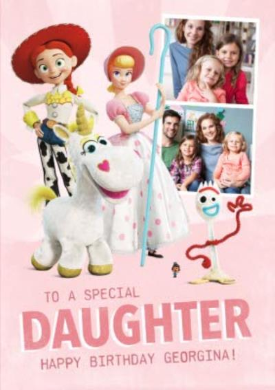Toy Story 4 - To A Special Daughter Photo Upload Card