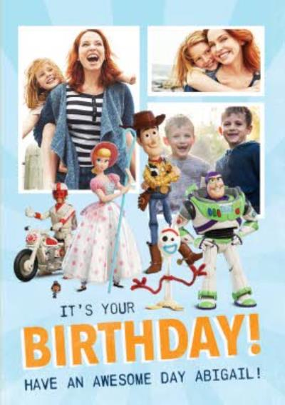 Toy Story 4 - It's You Birthday Photo Upload card