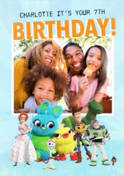 Toy Story 4 Birthday Card - Birthday Photo upload card