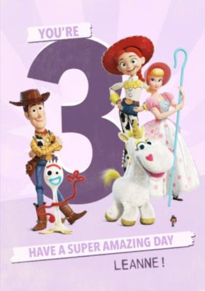 Toy Story 4  Characters You're 3 Have a Super Amazing day