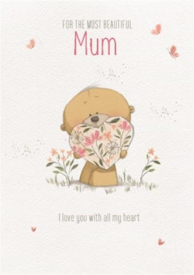 Cute Uddle For The Most Beautiful Mum Birthday Card