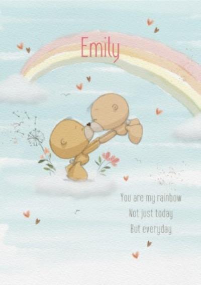 Cute Uddle Rainbow Birthday Card