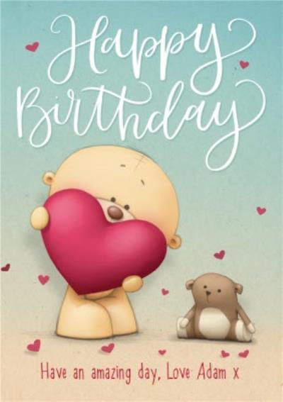 Teddy Bear Happy Birthday Personalised Card