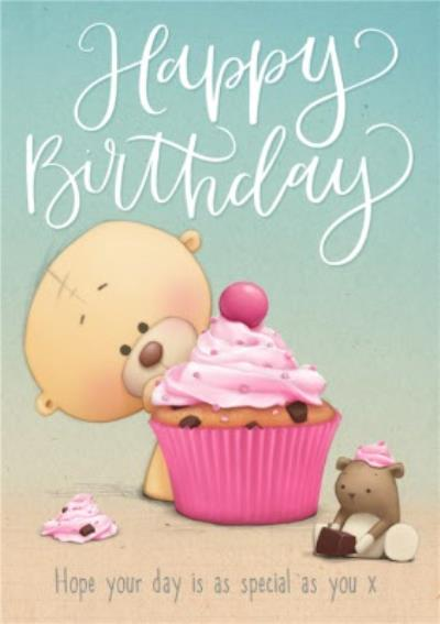 Big Cupcake Happy Birthday Personalised Card