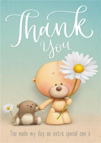 Teddy Bears And Daisies Thank You Card | Moonpig