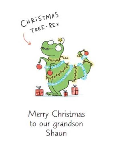 Funny Christmas Card A Christmas Tree-Rex