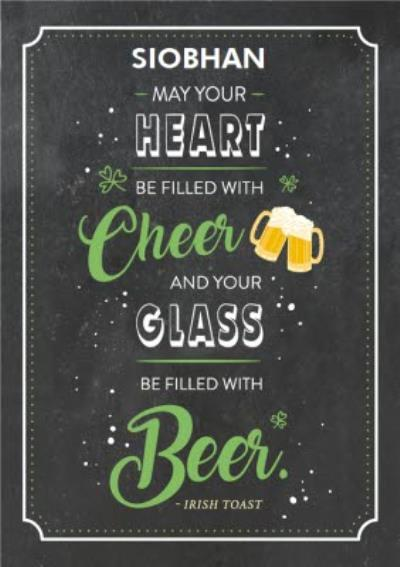 Cheer And Beer St Patricks Day Card