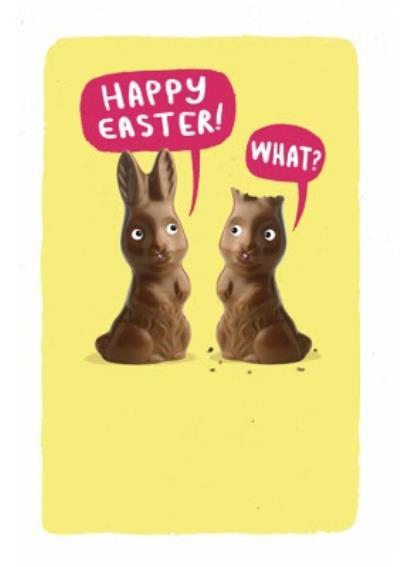 Funny Easter Chocolate Bunnies Card