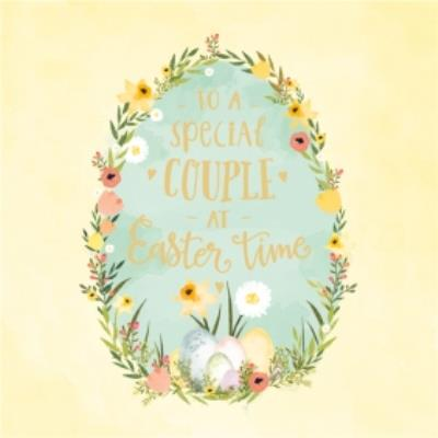 To A Special Couple At Easter Time Card