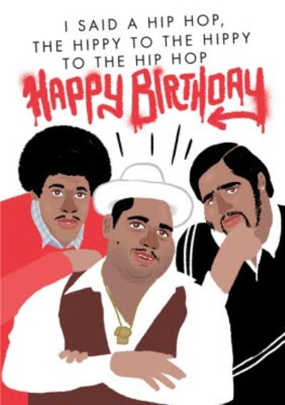 Illustrated Rappers Hip Hop Birthday Card