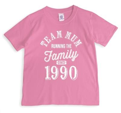Mother's Day Team Mum Red Personalised T-shirt