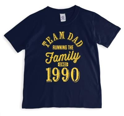 Father's Day Team Dad Blue Personalised T-shirt