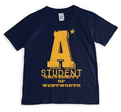 A* Student Blue Personalised T-shirt