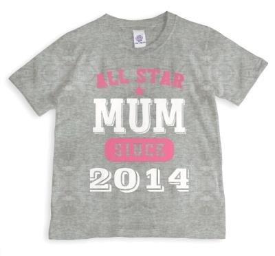 Mother's Day All Star Mum Pink Personalised T-shirt