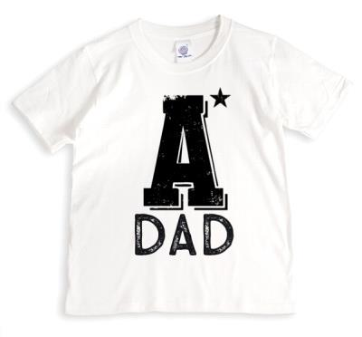 Father's Day A* Dad Personalised T-shirt