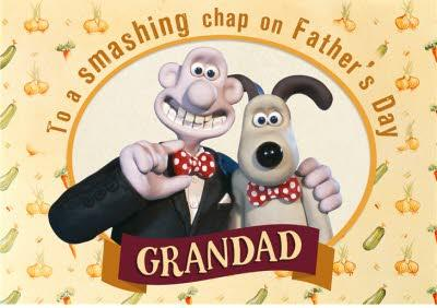 Wallace and Gromit Father's Day card - Grandad