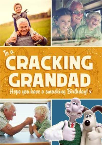 Wallace And Gromit To A Cracking Grandad Birthday Photo upload Card