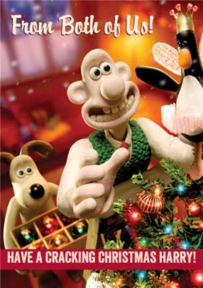 Wallace And Gromit Merry christmas From the Both of Us!