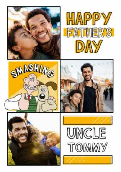 Wallace and Gromit Photo Upload Father's Day Card For Uncle