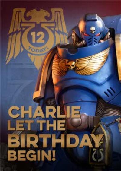 Warhammer Let The Birthday Begin Card