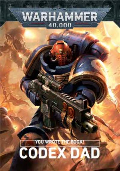 Warhammer Codex Dad Photo Upload Father's Day Card