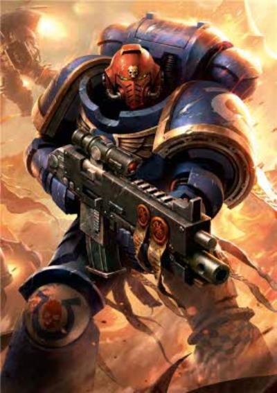 Warhammer Space Marine Card