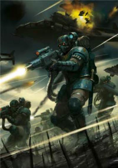 Warhammer Militarum Tempestus Soldier Card