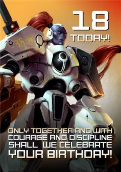 Warhammer Together and With Courage Personalised Age Birthday Card