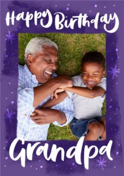 Grandpa Photo Upload Birthday Card