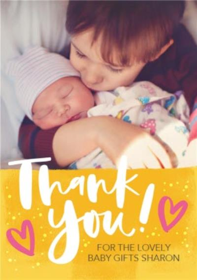 Thank You For The Gifts From The Baby Photo Upload Postcard