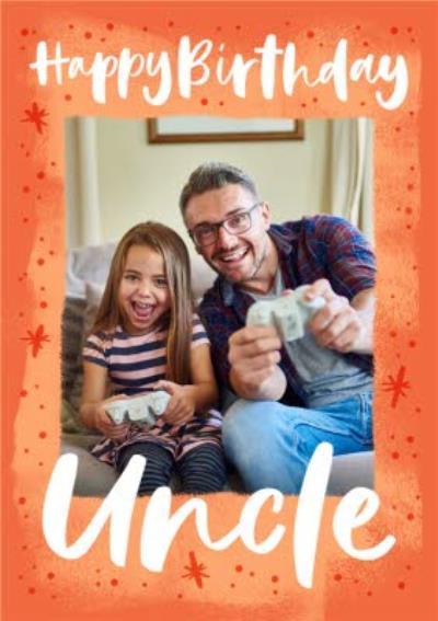 Photo Upload Happy Birthday Uncle Card