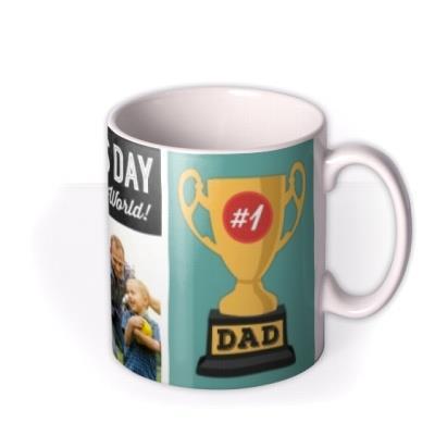 Father's Day Best Dad Trophy Photo Upload Mug