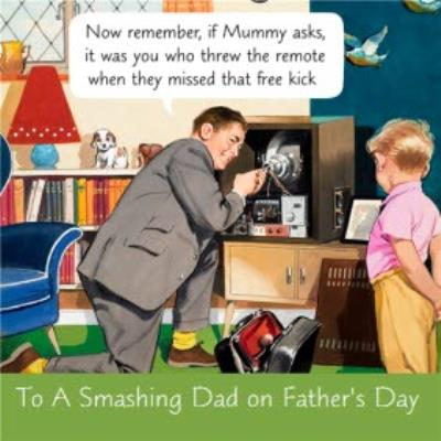 If Mummy Asks It Was You Funny Father's Day Card