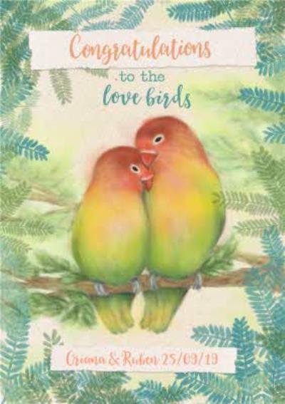 Wedding Card - Congratulations - Love Birds - Wild Birds