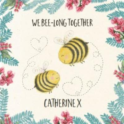 Wild Friends We Belong Together Valentines Day Card